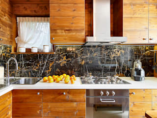 Ambra Piccin Architetto KitchenBench tops Wood Brown