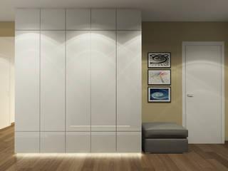 Квартира для коллекционеров Коридор, прихожая и лестница в эклектичном стиле от Архитектурная мастерская 'SOWA' Эклектичный