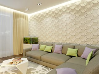 Eclectic style living room by Архитектурная мастерская 'SOWA' Eclectic