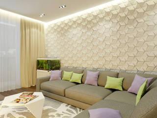 Квартира для коллекционеров Гостиные в эклектичном стиле от Архитектурная мастерская 'SOWA' Эклектичный