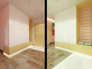Квартира для современной девушки Коридор, прихожая и лестница в стиле минимализм от Архитектурная мастерская 'SOWA' Минимализм
