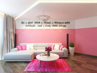 Квартира для современной девушки Гостиная в стиле минимализм от Архитектурная мастерская 'SOWA' Минимализм