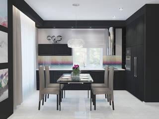 Загородный дом Кухня в стиле минимализм от Архитектурная мастерская 'SOWA' Минимализм