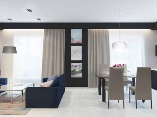 Загородный дом Гостиная в стиле минимализм от Архитектурная мастерская 'SOWA' Минимализм