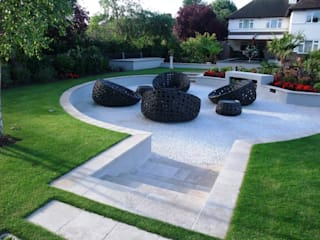 A private garden, Surrey Taman Modern Oleh Bowles & Wyer Modern