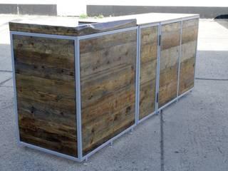 Reclaimed timber Market stall unit Modernes Messe Design von Kentholz Modern