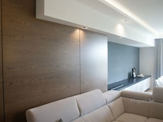 Apartament na Żoliborzu : styl , w kategorii Salon zaprojektowany przez Project Art Joanna Grudzińska-Lipowska