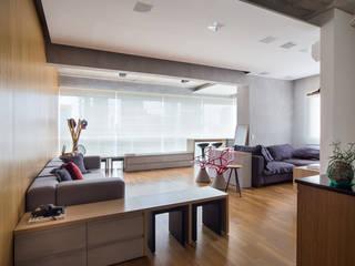 Salones modernos de Casa100 Arquitetura Moderno