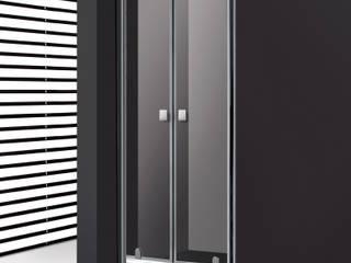 Mampara de ducha 2 puertas abatibles:  de estilo  de MAMPARASYMAS ONLINE, SLU