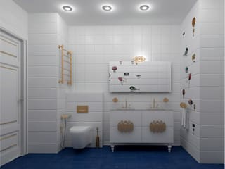 オリジナルスタイルの お風呂 の ООО ПрофЭксклюзив Студия дизайна интерьеров オリジナル