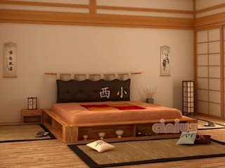 Letto stile Giapponese Cinius:  in stile  di Cinius
