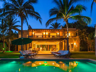 Casa Tortugas Albercas tropicales de BR ARQUITECTOS Tropical