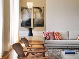 ห้องนั่งเล่น โดย BRENO SANTIAGO ARQUITETURA E INTERIORES, โมเดิร์น