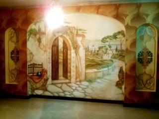 Абрикос Classic style media room