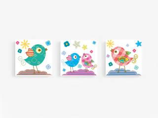 Komplet obrazów dla dzieci WESOŁE PTASZKI : styl , w kategorii  zaprojektowany przez PERPETUJA