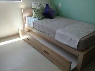 Camera da letto in stile in stile Moderno di Bianco  Diseño