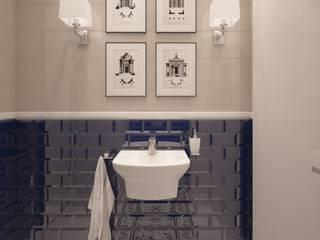 Toaleta w stylu Manhattan: styl , w kategorii Łazienka zaprojektowany przez FAMM DESIGN