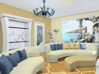Эскизный проект интерьера квартиры на бульваре Новаторов: Гостиная в . Автор – интерьеры от частного дизайнера
