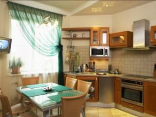 Реализованный проект интерьеров квартиры 126 кв. метров в ЖК Город солнца: Кухни в . Автор – интерьеры от частного дизайнера