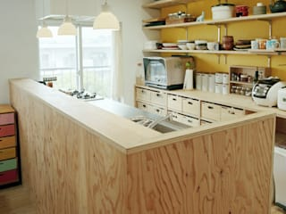 The house which grows up with kids: AIDAHO Inc.が手掛けたキッチンです。,