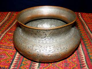 Antik Orient Kupfer schüssel 19 J.h. :   von Kabul Gallery