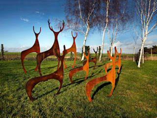 Deer Garden Sculpture Modern garden by Garden Art and Sculpture Modern