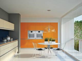 Minoru vidrio y madera: Cocinas de estilo  por Katz - estilo&diseño