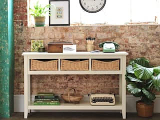 Farmhouse Ivory Console Table The Cotswold Company Country style corridor, hallway& stairs Wood