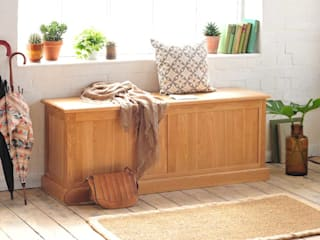 Appleby Oak Wide Ottoman Box:  Corridor & hallway by The Cotswold Company