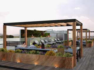 Roof garden: Jardines de estilo moderno por OK ARQUITECTURA