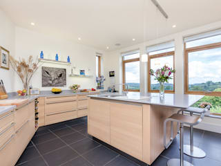 Modern Kitchen With Amazing Views Cuisine moderne par homify Moderne