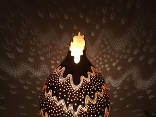 """Kürbislampe Kalebassenlampe """"Stardust"""" Atelier Pumpkin-Art WohnzimmerBeleuchtung"""