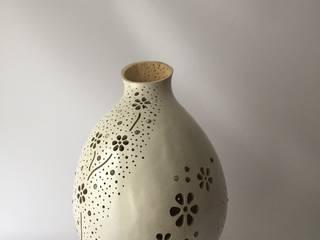 """Lampe Kürbislampe """"Flowergarden Mondstein"""" Atelier Pumpkin-Art WohnzimmerBeleuchtung"""