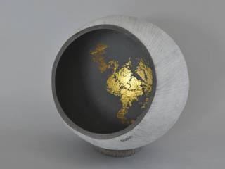 Calebasse béton&feuille d'or par BOBUN Minimaliste