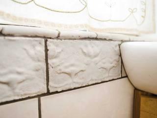 rustykalna łazienka Rustykalna łazienka od unikatowe kafelki Rustykalny