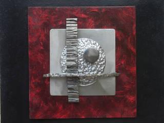 Relief - Acier - Etain - Médium:  de style  par William Puel Sculpture
