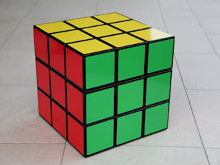 Rubiks Cube Seat Storage Table:   by surface tension