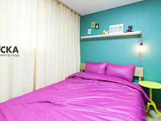 Scandinavian style bedroom by LYCKA interior & styling Scandinavian