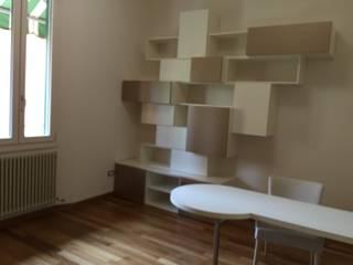 Arreda Progetta di Alice Bambini Modern Study Room and Home Office MDF Amber/Gold
