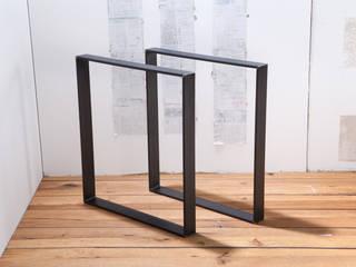 Tischbeine, Beine für Tisch aus rohem Stahl: industriell  von Rough And Ready,Industrial