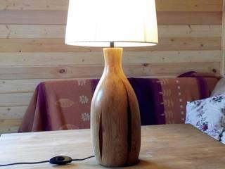 Настольная лампа из дуба:  в . Автор – Alexander Prokhorov, Рустикальный