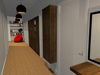 Appartement 220m2 Couloir, entrée, escaliers modernes par Arnaud Bouvier Design Moderne