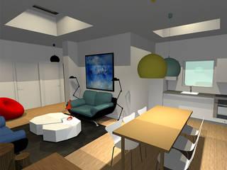 Appartement 220m2 Salle multimédia moderne par Arnaud Bouvier Design Moderne