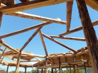 Balcones y terrazas de estilo rural de Ecohacer Bioarquitectura y Bioconstrucción Rural
