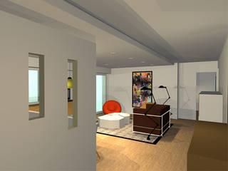 Appartement 70m2 Couloir, entrée, escaliers scandinaves par Arnaud Bouvier Design Scandinave
