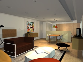 Appartement 70m2 Salle à manger scandinave par Arnaud Bouvier Design Scandinave