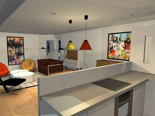 Appartement 70m2 Cuisine scandinave par Arnaud Bouvier Design Scandinave