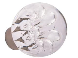 Bouton de porte Collection Bulles de fleur sphérique par Les Verreries de Bréhat Moderne