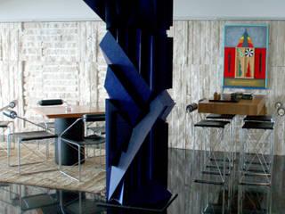 现代客厅設計點子、靈感 & 圖片 根據 Peixoto Arquitetos Associados 現代風
