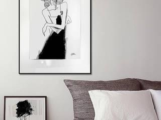 Muse. Watercolor painting 100x70cm carbon-aluminum frame, pasepartout, glass.: styl , w kategorii  zaprojektowany przez Iwonabilska